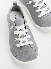 Riley - Grey Stretch Knit Ruched Sneaker, GREY, alternate