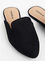Black Faux Suede Slip-On Loafer (WW), BLACK, alternate