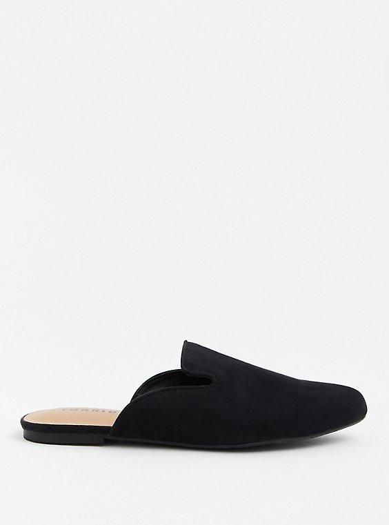Black Faux Suede Slip-On Loafer (WW), , hi-res