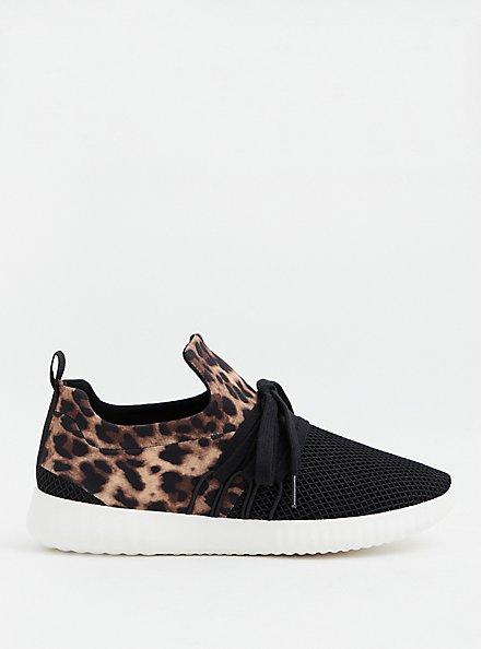 Leopard Lace-Up Sneaker (WW), ANIMAL, alternate