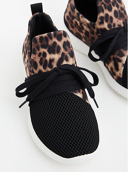 Leopard Lace-Up Sneaker (WW), ANIMAL, hi-res