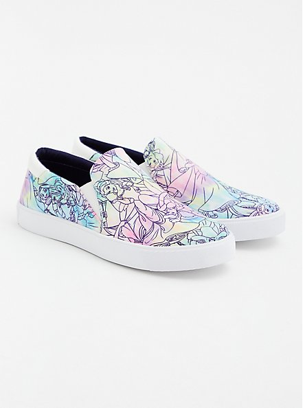 Disney Princess Squad Multi Slip-On Canvas Sneaker (WW), MULTI, alternate