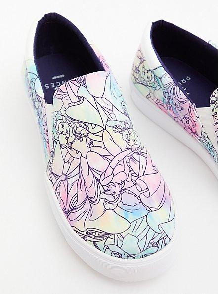Disney Princess Squad Multi Slip-On Canvas Sneaker (WW), MULTI, hi-res