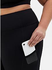 Black Mesh Side Wicking Active Legging With Pockets, BLACK, alternate