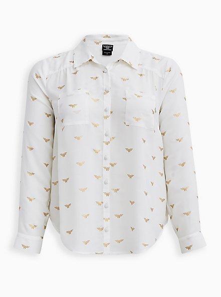 Madison Button-Up Shirt - Georgette Wonder Woman , MULTI, hi-res