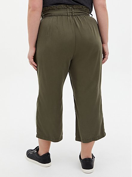 Olive Green Tencel Utility Pant, ARMY GREEN, alternate