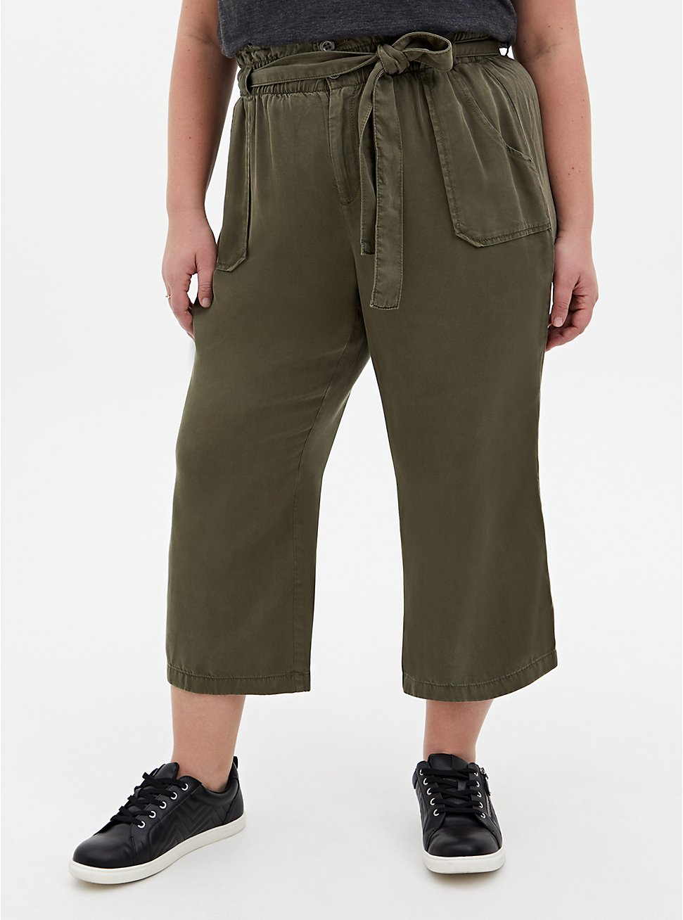 Olive Green Tencel Utility Pant, ARMY GREEN, hi-res