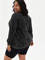 Plus Size Harry Potter Solemnly Swear Mineral Wash Raglan Sweatshirt , DEEP BLACK, alternate