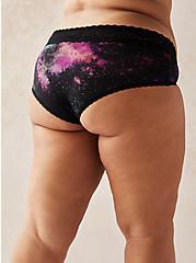 Galaxy Second Skin Hipster Panty , BRIGHT GALAXY- BLACK, alternate