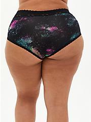 Galaxy Second Skin Brief Panty, BRIGHT GALAXY- BLACK, alternate