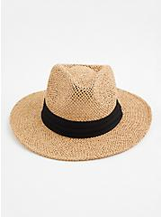 Natural Seagrass Panama Hat, BEIGE, alternate