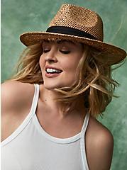 Natural Seagrass Panama Hat, BEIGE, hi-res