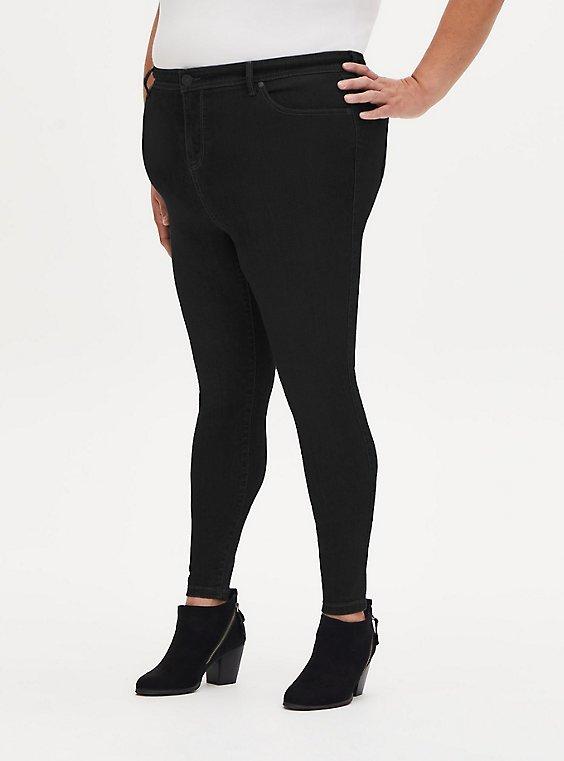 MidFit Super Skinny Jean - Super Soft Black , DEEP BLACK, hi-res