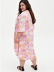 Multi Watercolor Hacci Kimono, MULTI, alternate