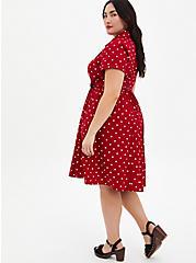Disney Minnie Mouse Red Polka Dot Retro Swing Dress, MINNIE MOUSE DOT, alternate