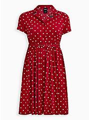 Disney Minnie Mouse Red Polka Dot Retro Swing Dress, MINNIE MOUSE DOT, hi-res
