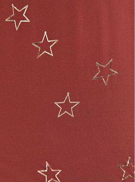 Dusty Rose Stars Challis Dolman Blouse , STARS - PINK, alternate