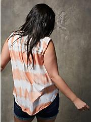 Peach Tie-Dye Milly Smocked Tank , TIE DYE, alternate