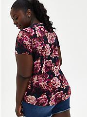 Pocket Tee - Heritage Slub Floral Black, OTHER PRINTS, alternate