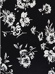 Black Floral Super Soft Flutter Sleeve Top, OTHER PRINTS, alternate
