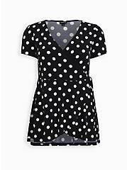 Black Dot Studio Knit Surplice Top, OTHER PRINTS, hi-res