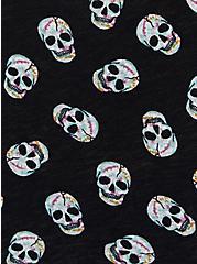 Black Skulls Heritage Slub Off Shoulder Tee, OTHER PRINTS, alternate
