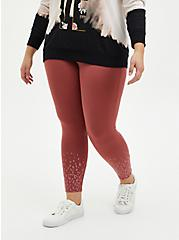 Premium Legging - Glitter Leopard Fade Marsala Red, , alternate