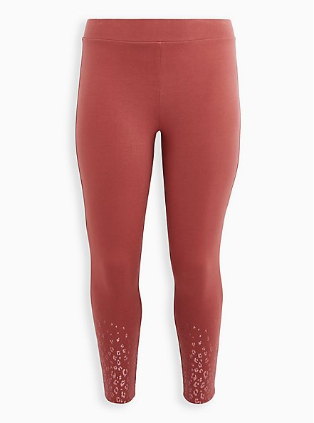 Premium Legging - Glitter Leopard Fade Marsala Red, , hi-res