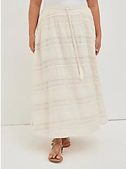 Ivory Lace Maxi Skirt, NATURAL, alternate