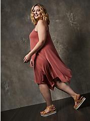 Dusty Rose Cupro Handkerchief Tank Dress, MARSALA, alternate