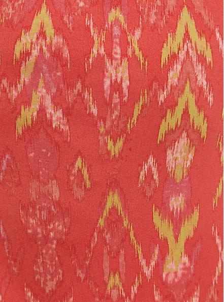 Plus Size Coral Ikat Studio Knit Romper, IKAT - PINK, alternate