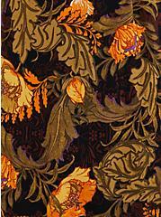 Black Floral Stretch Challis Romper, FLORAL - BLACK, alternate