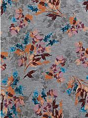 Super Soft Grey Floral Strappy Maxi Dress, FLORAL - GREY, alternate