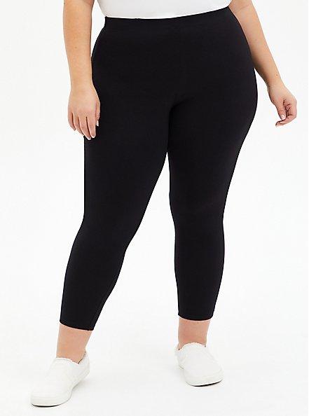 Plus Size Crop Premium Comfort Legging - Black, BLACK, hi-res