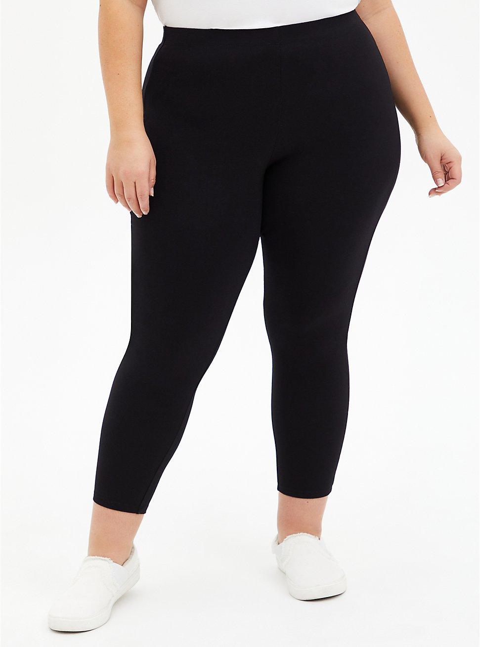 Crop Premium Comfort Legging - Black, BLACK, hi-res