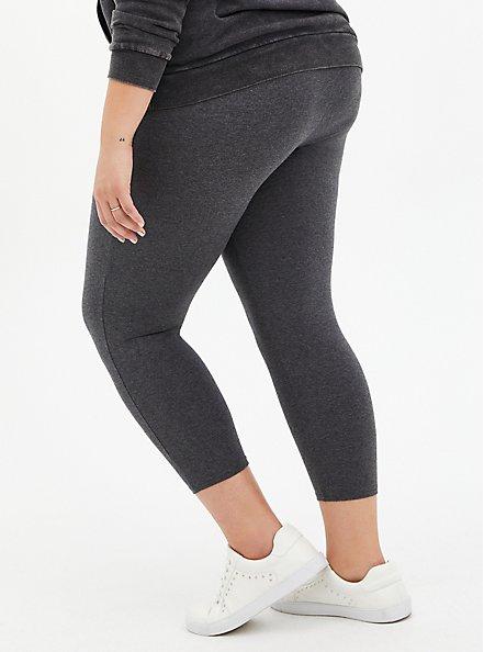 Comfort Waist Crop Premium Legging - Dark Heather Grey, GREY, alternate