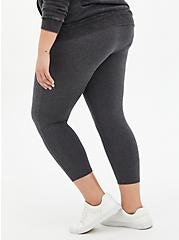 Comfort Waist Crop Premium Legging - Dark Heather Grey, GREY, alternate