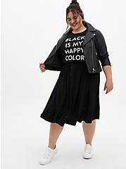 Slim Fit Crew Tee - My Happy Color Black, DEEP BLACK, alternate