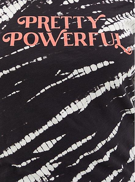 Off Shoulder Tee - Heritage Slub Powerful Bleach Wash Black, DEEP BLACK, alternate