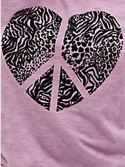 Off Shoulder Tee - Heritage Slub Peace Heart Vintage Purple, PURPLE, alternate