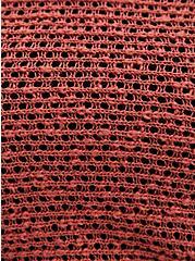 Dusty Rose Slub Dolman Sweater, MARSALA, alternate
