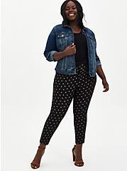Black Diamond Ponte Ankle Skinny Pant, DIAMONDS - BLACK, alternate
