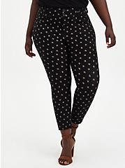 Black Diamond Ponte Ankle Skinny Pant, DIAMONDS - BLACK, hi-res