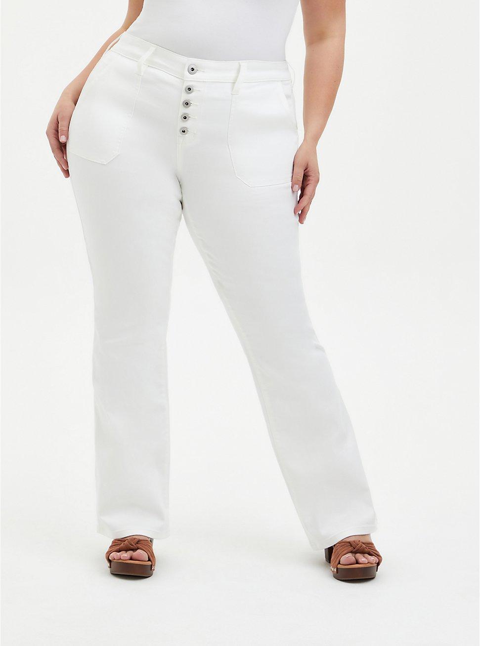 Mid Rise Flare Jean - Super Soft White, WINTER WHITE, hi-res