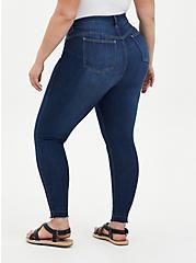 Bombshell Skinny Jean - Premium Stretch Eco Medium Wash With Release Hem, HOLLYWOOD, alternate