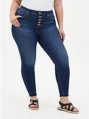 Bombshell Skinny Jean - Premium Stretch Eco Medium Wash With Release Hem, HOLLYWOOD, hi-res