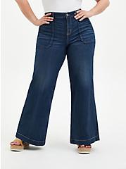 Plus Size High Rise Wide Leg Jean - Vintage Stretch Medium Wash, BACK COUNTRY, hi-res
