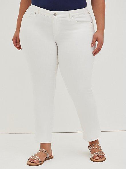 Boyfriend Straight Jean - Vintage Stretch White, OPTIC WHITE, alternate