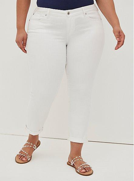 Boyfriend Straight Jean - Vintage Stretch White, OPTIC WHITE, hi-res