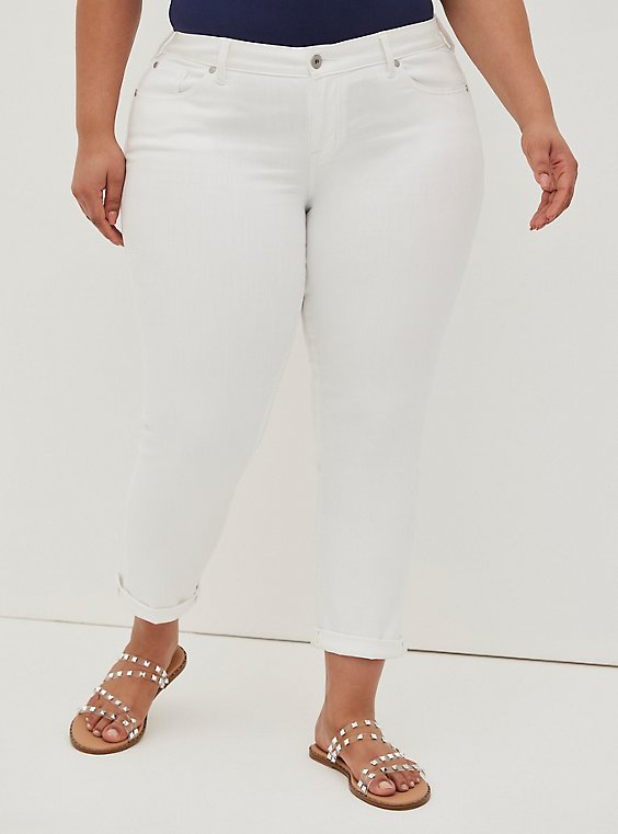 Plus Size Boyfriend Straight Jean - Vintage Stretch White, OPTIC WHITE, hi-res